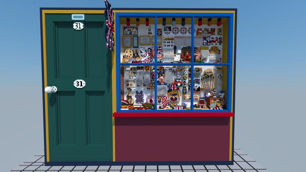 Minecraft version of Peter Blake's Toy Shop
